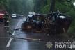 Смертельна ДТП у Брюховичах: «Мерседес» влетів в дерево, а потім в електроопору (Фото)