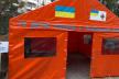 На Львівщині встановлено намети для тимчасових пунктів прийому хворих