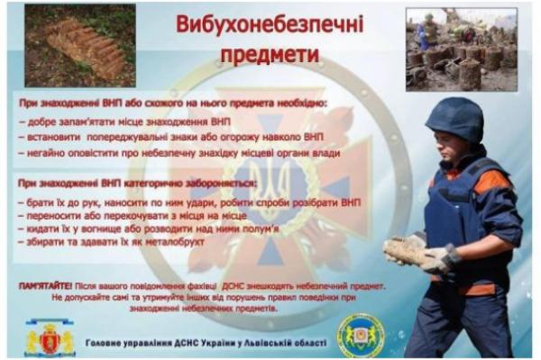 120-міліметровий боєприпас лежав на вулиці Лукасевича