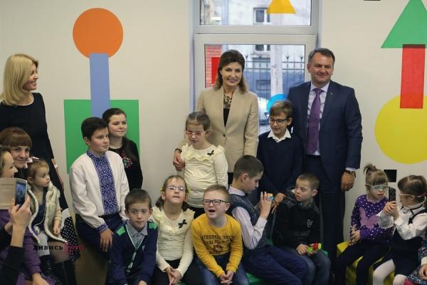 Марина Порошенко відкрила у Львові інтерактивний простір для дітей з інвалідністю (Фото)