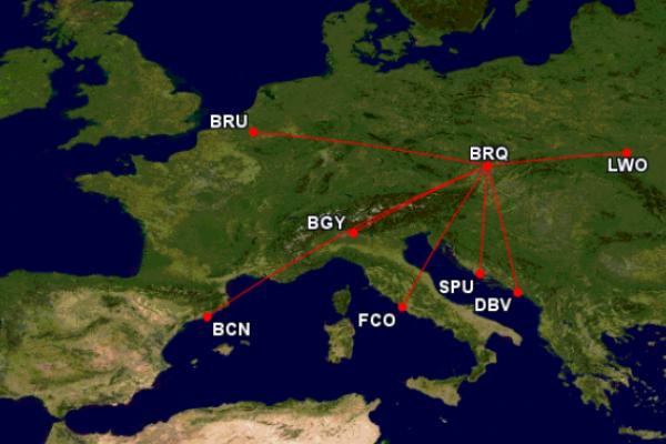 «Blue Air» відкриє новий авіарейс «Львів-Брно»