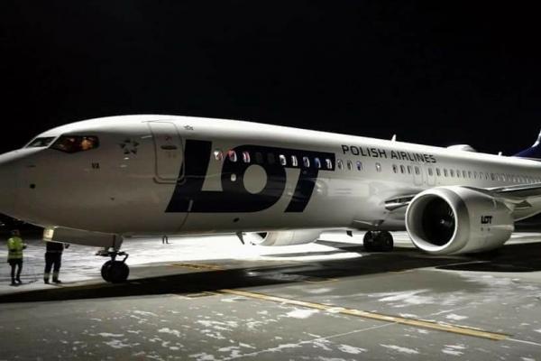 В аеропорту Львів вперше прийняли Boeing 737 MAX (Фото)