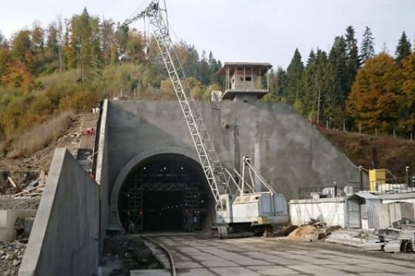 Тунель між Львівщиною й Закарпаттям планують експлуатувати з травня