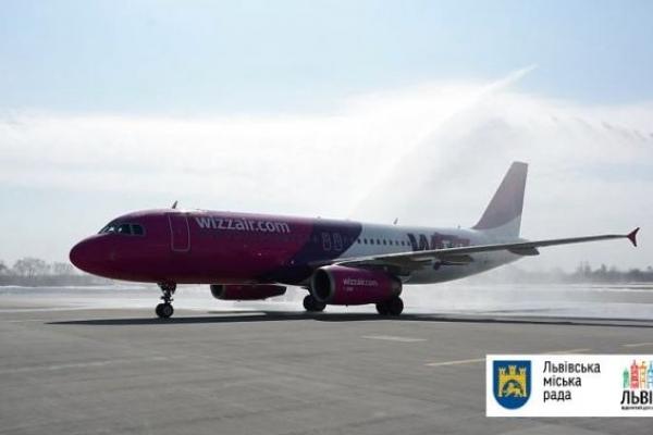 Wizz Air відкрив три нові напрямки з аеропорту Львів