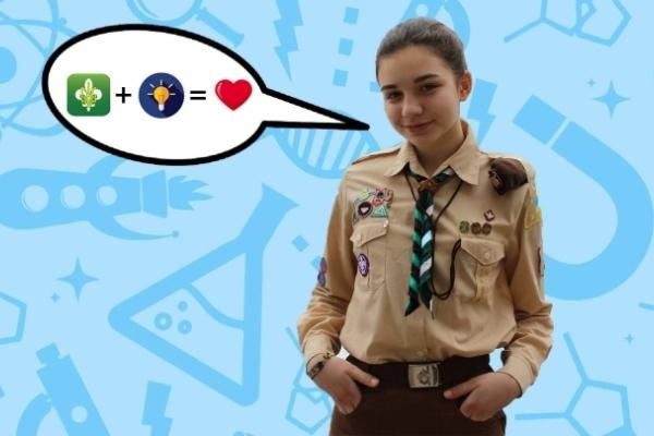 Львівська пластунка покаже свій винахід – прилад для незрячих на Олімпіаді геніїв у США