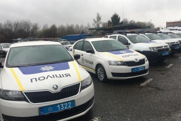 Львівські поліціянти отримали 19 нових автомобілів