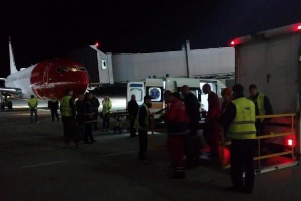 Вночі у львівському аеропорту здійснив екстрену посаду літак з Норвегії (Фото)