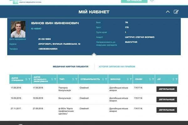 У Дрогобичі запровадили електронну медичну картку пацієнта