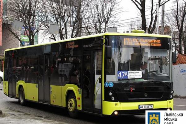 1 січня автобуси на вісьмох маршрутах у Львові курсуватимуть за спецграфіком