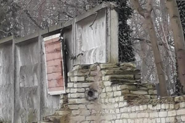 На Янівському цвинтарі обвалилась частина цегляної огорожі (Фото)