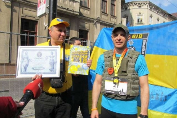 У Львові військовослужбовець встановив рекорд у напівмарафоні