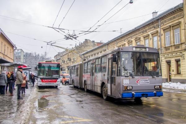 Сьогодні у Львові не курсуватимуть тролейбуси двох маршрутів