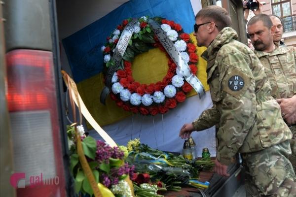 У Львові попрощались із загиблим 24-річним бійцем Іваном Сакалем (Фото)
