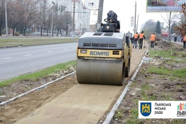 У Львові облаштують велосипедні доріжки на 4 магістралях