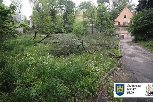 У Львові заборонили будівництво у сквері на Горбачевського