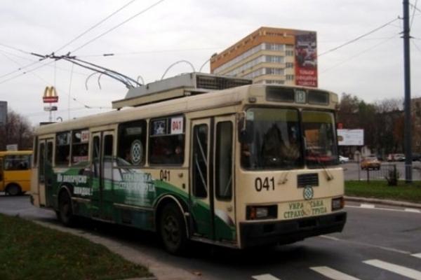 Тролейбуси №13 курсуватимуть у Львові до «Форуму» тимчасово