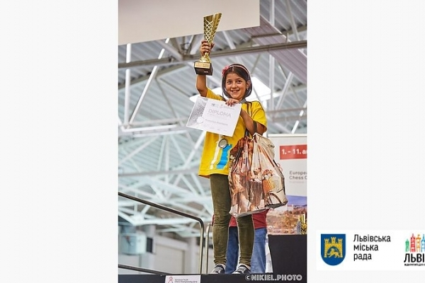 Дев'ятирічна львів'янка стала віце-чемпіонкою Європи