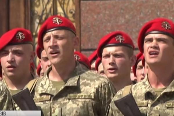 500 першокурсників Академії сухопутних військ склали присягу у Львові (Відео)