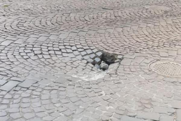 У центрі Львова утворюється провалля
