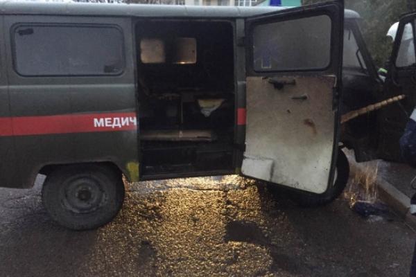 У Стрию згорів автомобіль швидкої допомоги