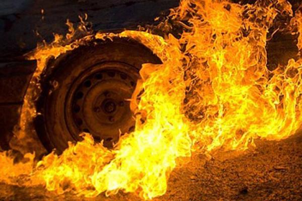 У селі на Львівщині згоріла 12-тонна вантажівка