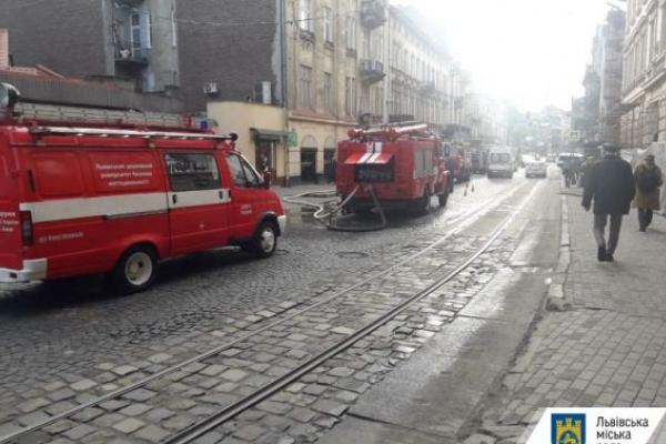 У Львові на вулиці Франка ліквідували пожежу
