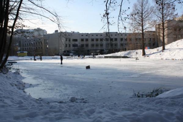 У Львові врятували школяра, який провалився в озеро на Погулянці