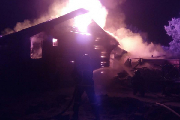 У селі на Львівщині згоріла сауна, ніхто не постраждав