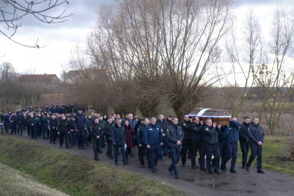 На Львівщині в останню путь провели поліцейського Ігоря Касараба