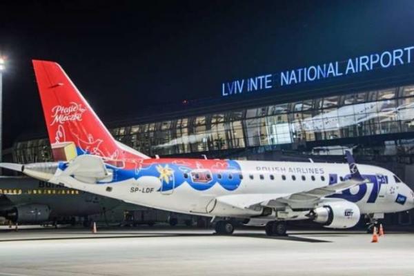 Львівський аеропорт повідомляє про закриття авіасполучення та відміну рейсів