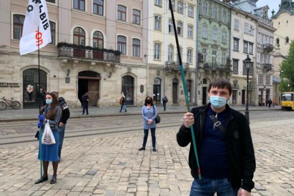Протест підприємців у Львові: на організатора акції склали адмінпротокол