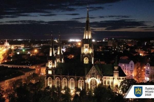 У Львові підсвітили церкву святих Ольги та Єлизавети