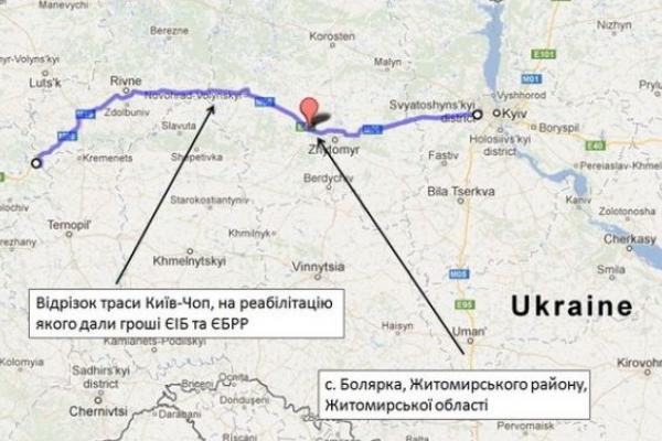 На дорозі М-06 Київ – Чоп автомобілі зважуватимуть автоматично