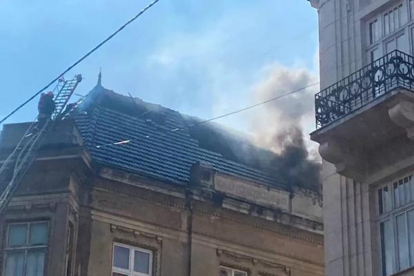 Масштабна пожежа на Князя Романа у Львові
