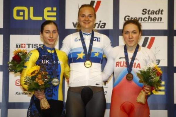 Львівська велогонщиця виграла срібло чемпіонату Європи
