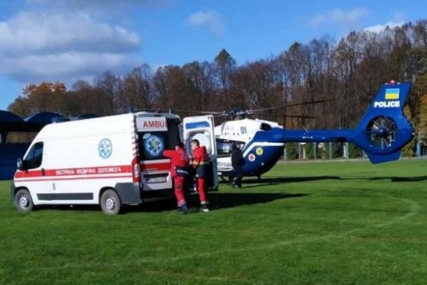 15-річну дитину доставили до лікарні у Львові на медичному гелікоптері